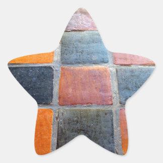 Tejas reales pegatina en forma de estrella