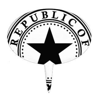 Tejas (república del sello de Tejas) Figuras De Tarta