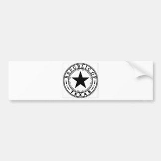 Tejas (república del sello de Tejas) Pegatina Para Coche