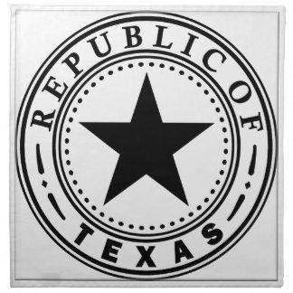 Tejas (república del sello de Tejas) Servilleta De Papel