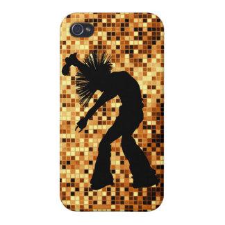 Tejas retras elegantes del espejo del oro del bail iPhone 4/4S fundas