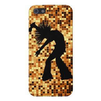 Tejas retras elegantes del espejo del oro del bail iPhone 5 fundas