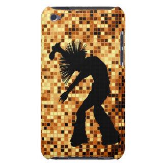 Tejas retras elegantes del espejo del oro del bail iPod touch Case-Mate coberturas