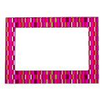 Tejas retras rosadas marcos magnéticos para fotos