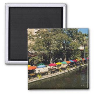 Tejas, Riverwalk, cenando en el borde del río Imán Para Frigorifico