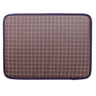 Tejas rojizas cuadradas fundas para macbooks