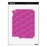 Tejas rosadas del hexágono de la turquesa iPad 2 skin