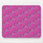 Tejas rosadas del hexágono de la turquesa tapete de ratones