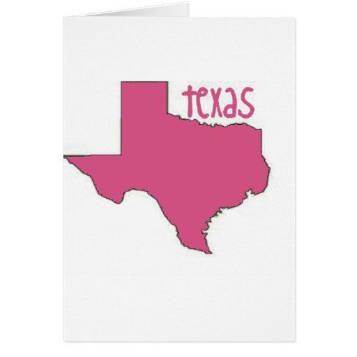 Tejas rosado tarjeta