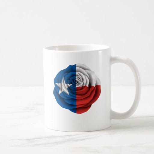 Tejas subió la bandera tazas de café