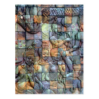 Tejas talladas Chedi de Doi Inthanon Tarjetas Postales