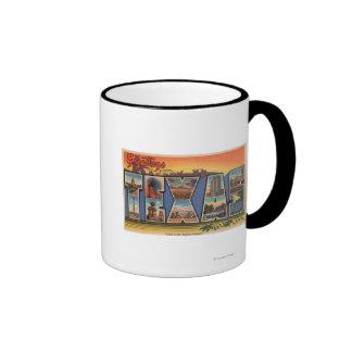 Tejas (tierra del pionero moderno) taza