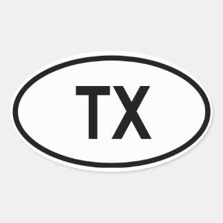 "Tejas ""TX "" Calcomanías De Ovaladas"