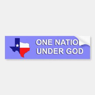 Tejas - una nación debajo de dios pegatina para auto