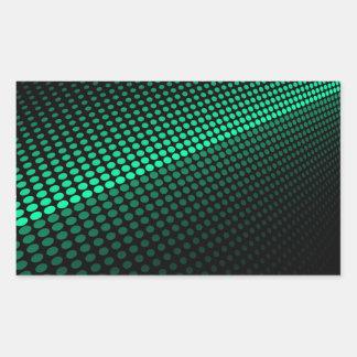 Tejas verdes pegatina rectangular