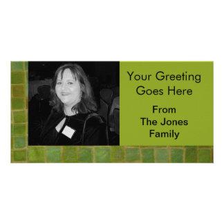 tejas verdes tarjetas fotográficas