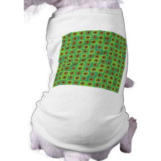 Tejas y estrellas verdes playera sin mangas para perro