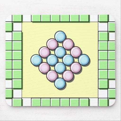 Tejas y modelo verdes de los círculos tapetes de ratones