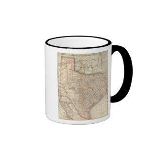 Tejas y territorio indio taza de café