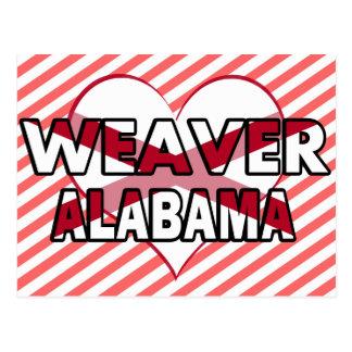 Tejedor Alabama Tarjeta Postal