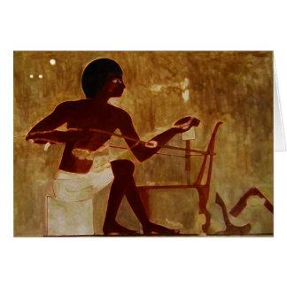 Tejedor egipcio tarjeta de felicitación