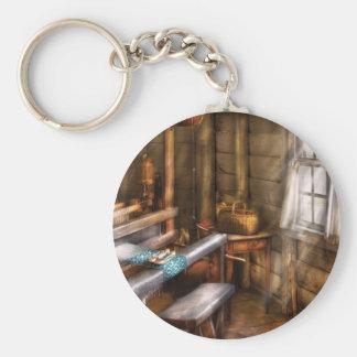 Tejedor - el cuarto de los tejedores llavero redondo tipo pin