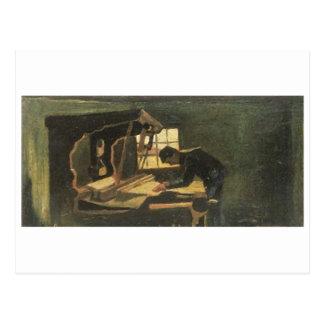 Tejedor que arregla la bella arte de Van Gogh de Postales