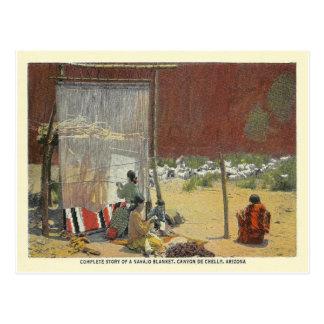 Tejedores de Navajo del vintage Postales