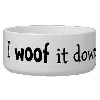 Tejido abajo persigue el cuenco bol para perro