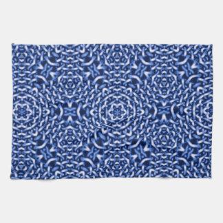 Tejido de cadenas, azul (i) toallas de cocina