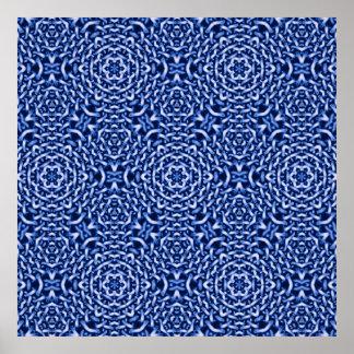 tejido del azul de las cadenas (i) póster