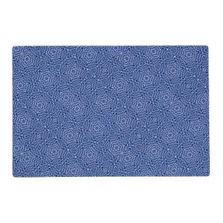tejido del azul de las cadenas (i) salvamanteles