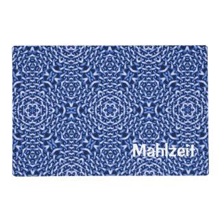 tejido del azul de las cadenas (i) tapete individual