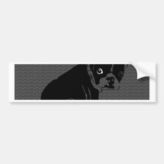 Tejido del perrito de Boston Terrier Pegatina Para Auto