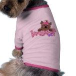 tejido del Yorkie-chica Camisa De Perrito