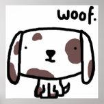 Tejido. Impresión del perro Impresiones