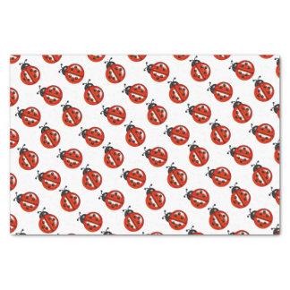 Tejido rojo y blanco del regalo de las mariquitas papel de seda pequeño