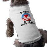 ¡Tejido! si usted ama a Obama Camiseta De Perro
