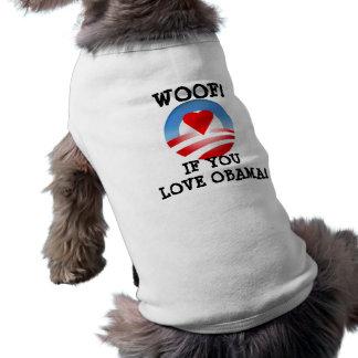 ¡Tejido! si usted ama a Obama Playera Sin Mangas Para Perro