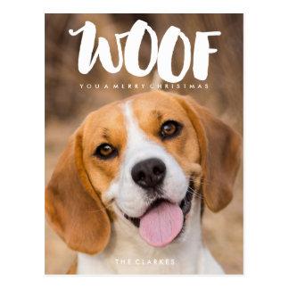 TEJIDO usted una foto del perro de las Felices Postales