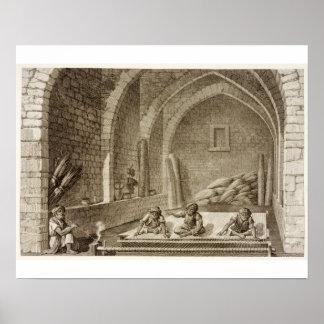 Tejiendo una manta, de artes del volumen II y de c Póster
