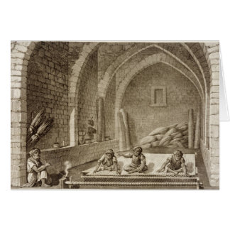 Tejiendo una manta, de artes del volumen II y de c Tarjeta De Felicitación