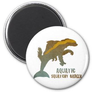 Tejón acuático de Squatchy Imán Redondo 5 Cm