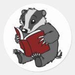 Tejón de la lectura - pegatina