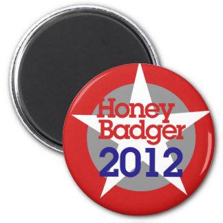 Tejón de miel 2012 imán redondo 5 cm