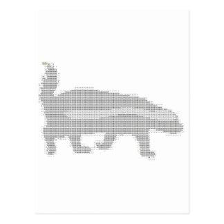 tejón de miel ASCII Postales