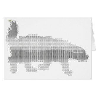tejón de miel ASCII Tarjeta De Felicitación
