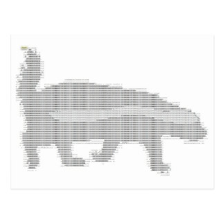 tejón de miel ASCII Tarjetas Postales