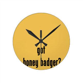 ¿tejón de miel conseguido? reloj redondo mediano