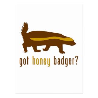 ¿tejón de miel conseguido? postal